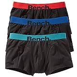 Bench Herren Boxershorts | 3er Pack (M | 5, 3 x schwarz mit farbigem Bund)