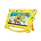 Ainol 7C08x-Tablet infantil de Android 8.1,tablet para niños de 7pulgadas,regalo para niños,1GB+16GB con wifi,doble cámara,tablet de Bob Esponja,juegos educativos,Amarillo