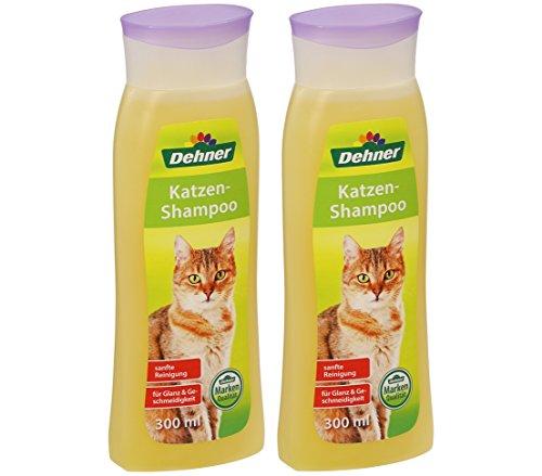 Dehner Katten-Shampoo, 2 x 300 ml (600 ml)
