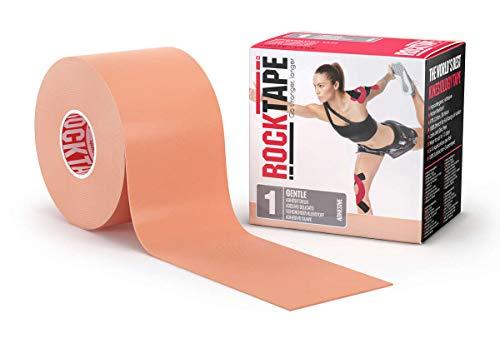 RockTape Rxbeige RockTapeRx Kinesiologie-Tape, sanft klebend und empfindliche Haut, ideal für Reha-und Haltungstraining, 5 cm x 5 m, ungeschnittene Rolle, beige, Uncut Roll-5cm Wide