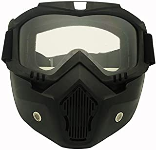 Stylish Glasses New Motorcycle helmet riding off-road equipment outdoor Harley goggles mask high-end lens mask goggles men women Clothing Accessories (Color : Clear)