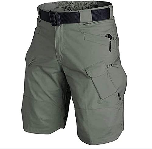 2021 Mejorado Pantalones Cortos Tácticos Impermeables, Transpirables Secos Rápidos, Pantalones Cortos De Carga Para Hombre Fit Relajados, Para Acampar Pescando Actividades Al Aire Libre Senderismo Pan