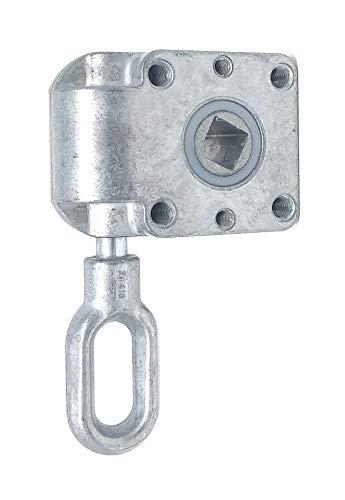 DIWARO.® | Schneckengetriebe für Markisen | Untersetzung 7:1 | blank | 13mm Innenvierkant | Markisengetriebe
