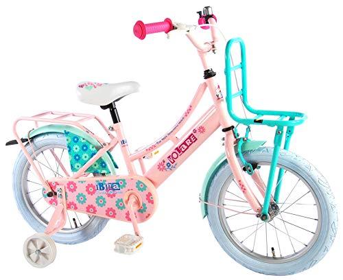 Volare Ibiza Kinderfiets - Meisjes - 16 inch - Roze - 95% afgemonteerd