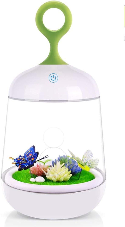 Schlummerleuchten Geführte Kreative Geschenke Usbs Dekorationsatmosphre Schlaf Note Eingemachtes Nachtlicht Schmetterlingsgeld
