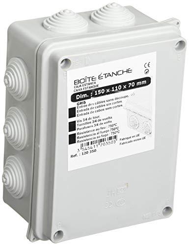 Boîte de dérivation étanche rectangulaire IP65 - 150x110mm Prof. 70mm