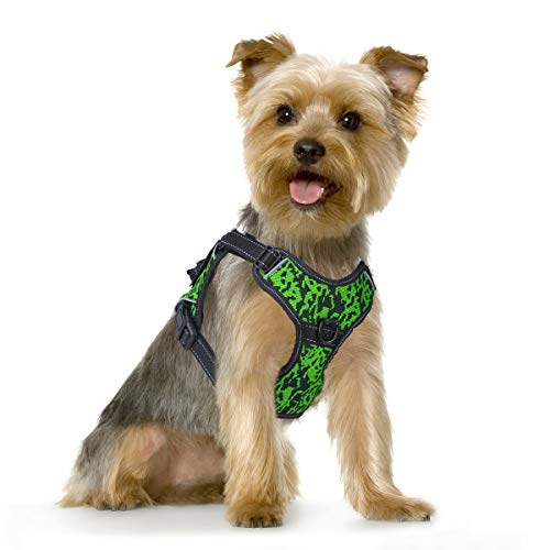 MUMUPET Dog Harness No Pull Pet Harness Adjustable Service Dog Vest for Small Dogs Easy Control, 3M Reflective Oxford Material Vest Two Metal Tabs Behind The Chest Rings No More Tugging or Choking