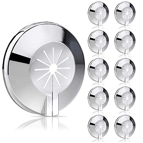 10 embellecedores para radiadores, cubierta para tubos de radiador, cubierta de tubo, manguito de plástico variable para diámetro de 8 – 22 mm, montaje rápido
