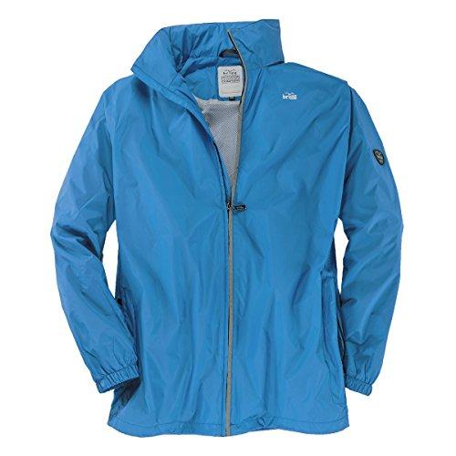 Brigg Outdoor Regenjacke azurblau Übergröße, XL Größe:3XL