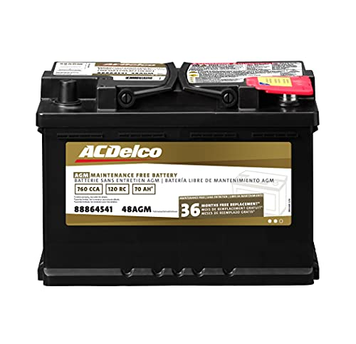 ACDelco Gold 48AGM 36 Month Warranty AGM BCI Group 48 Battery, Black