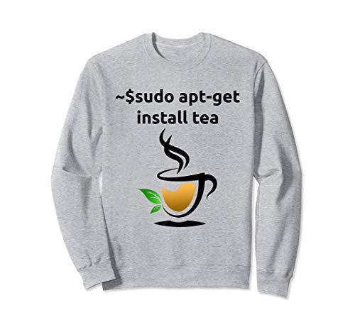Linux sudo apt-get install Tee, Geek Nerd Geschenke Sweatshirt