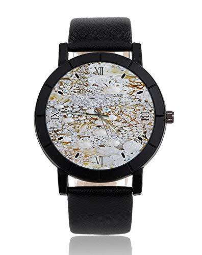 Strass Diamant Bling Blume Bouquet Armbanduhr Lederarmband Armbanduhr Kleid Casual Uhren für Frauen