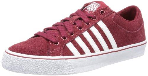 K-Swiss Adcourt LA SDE VNZ 03095-636-M, Herren Sneaker, Rot (Merlot/White), EU 42 (UK 8) (42, UK 8, US 9)