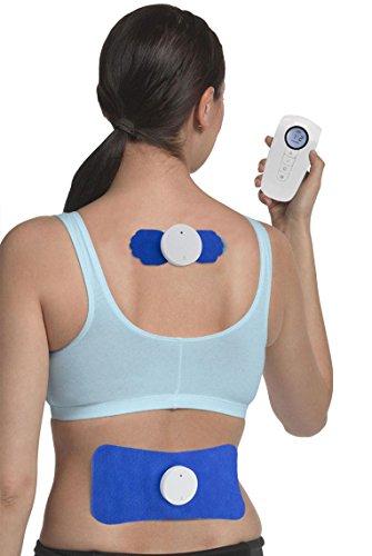 TENS inalámbrico de canal doble Med-Fit - Alivio total del dolor corporal - 4 programas para el alivio del dolor Masaje, estrés y relajación - Fuerza máxima - Totalmente recargable
