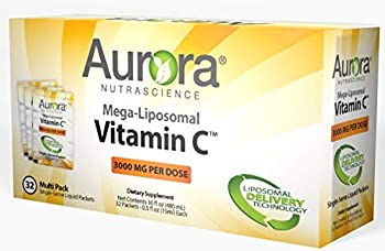 Aurora Nutrascience Mega Liposomal Vitamin C 3000 mg per Serving 16 oz Liquid - High Absorption Fat Soluble VIT C Antioxidant Supplement Higher Bioavailability Immune System Support  32 Doses