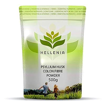 Hellenia Psyllium Husk Colon Fibre - 500g Powder - All Natural Product
