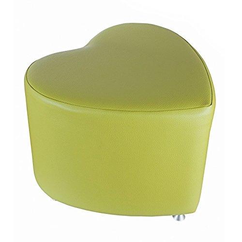 Kaikoon Tabouret Cube en forme de cœur Vert clair avec rail en aluminium