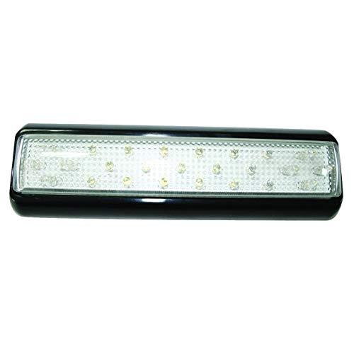 Plafonnier / feux de remorque à LED.25 LEDs, 12V&24V, embase noire