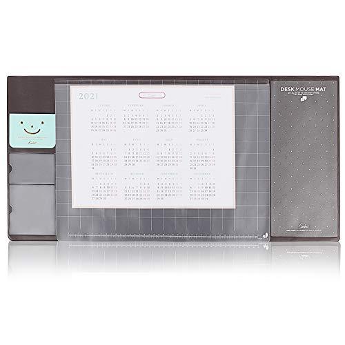 OOTO Sous-main de bureau avec protection des bords, bande de fermeture des bords, sous-main en papier comme sous-main pour le bureau et la maison.