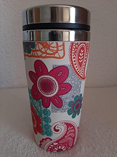 Termo de Bambu ♻ Vaso Termico Café para Llevar - Taza Ecologica de Fibra de Bambú y Acero Inoxidable - Apto lavavajillas - Eco, Bio, Sin BPA o Plastico - Material Organico, Reciclable y Biodegradable
