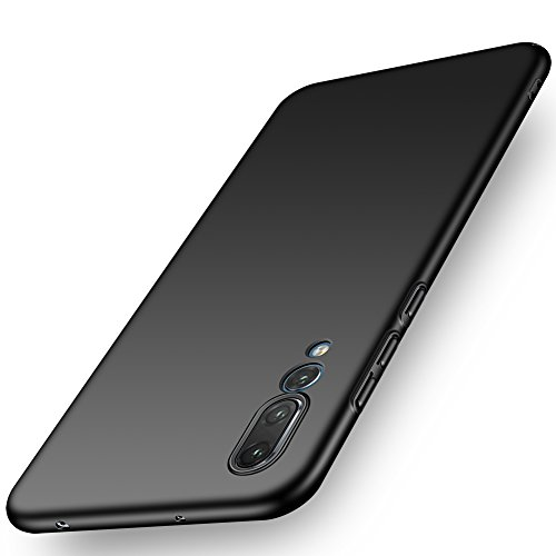 ORNARTO Funda Huawei P20 Pro, HW P20 Pro Carcasa [Ultra-Delgado] [Ligera] Mate Anti-Arañazos y Antideslizante Alta Calidad Protectora Sedoso Caso para Huawei P20 Pro(2018) 6.1' Negro