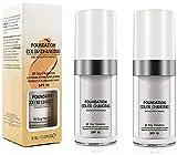 Base de cambio de color (paquete de 2) Base de maquillaje humectante Base de maquillaje de cambio hidratante impecable Base líquida para mujeres y niñas SPF15