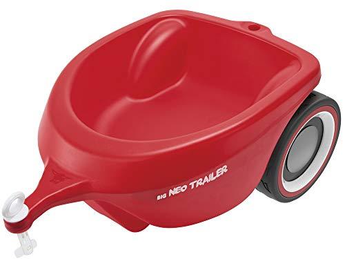 BIG-Bobby-Car Neo Trailer Rot - Bobby-Car Anhänger für drinnen und draußen, für das BIG-Bobby-Car, Ladevolumen: 3 Liter, für Kinder ab 1 Jahr