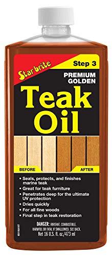 STAR BRITE Premium Golden Teak Oil 16 Oz- Sealer, Preserver, & Finish for Outdoor Teak & Other Fine Woods (085116PW)