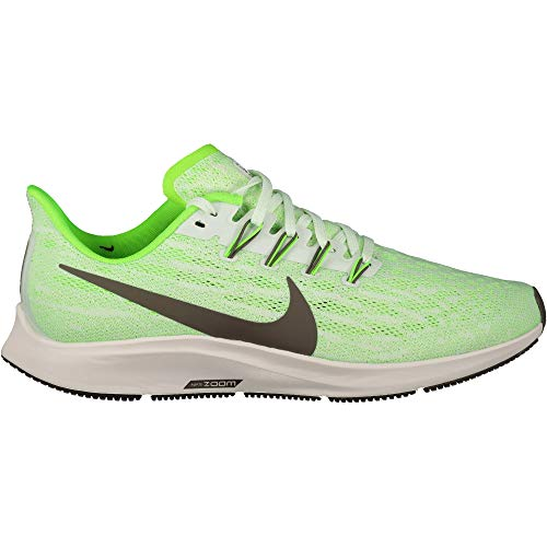 Nike Men's Air Zoom Pegasus 36 Track & Field Shoes, Multicolour (Phantom/Ridgerock/Electric Green 3), 12 UK