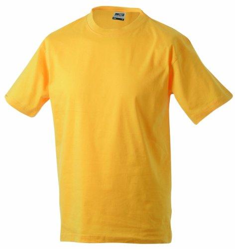 James & Nicholson Jungen Junior Basic Rundhals T-Shirt, Gelb (gold-yellow), Large (Herstellergröße: L (134/140))