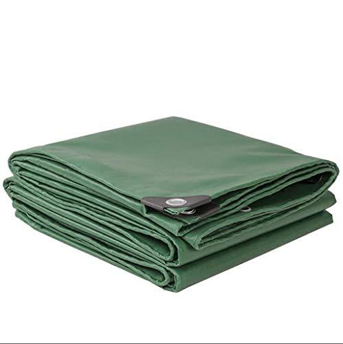 CHUDAN+ groen gewatteerde waterdichte doek van zeildoek multifunctionele waterdichte zonnecrème zonwering doek vrachtwagenzeil 400 g per vierkante meter dikte 0,32 mm