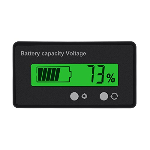 Fantastic Prices! Battery Meter, ALLOMN Battery Capacity Monitor Capacity Tester 6V-48V Gauge Meter ...