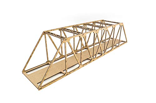 War World Scenics Einspurige Low-Detail Balkenbrücke 560mm - Spur 00/H0 MDF Modellbahn Modellbau Landschaft Gelände