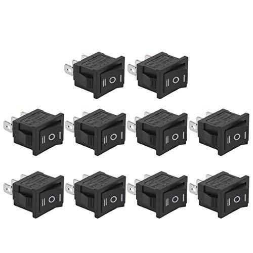 Interruptores basculantes de rendimiento estable de resistencia al calor de 10 piezas Mini interruptores basculantes de 3 posiciones y 3 pines para electrodomésticos