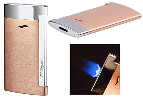 Lifestyle-Ambiente Lifestyle-Ambiente S.T. Dupont Feuerzeug Slim 7 Kupfer Flat_Flame inkl Tastingbogen