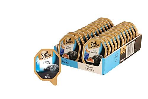 Sheba Sauce Lover, Cibo per Gatto con Tonno 85 g - 22 Vaschette
