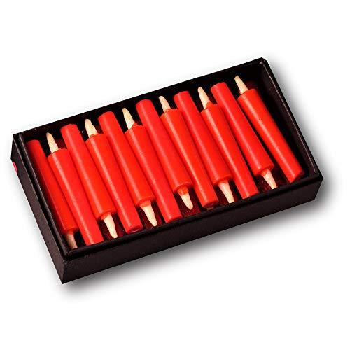 【小池ろうそく店】和ろうそく 小さい 赤 【豆ろうそく朱】 5cm 24本入 植物性ロウ はぜろう