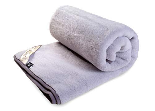 Merino Wool Bedding , Natural Bedding Grey Cashmere - Sábana de lana para colchón (90 x 200 cm), diseño de rayas, color gris