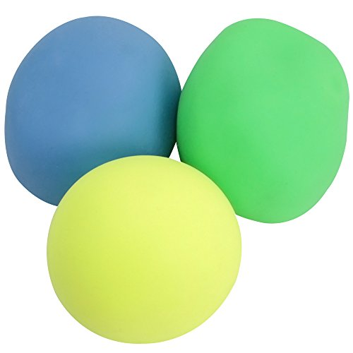com-four® 3 Antistressbälle für den Stressabbau und zum Spielen in bunten Farben [Auswahl variiert], 5,5 cm (03 Stück - bunt)
