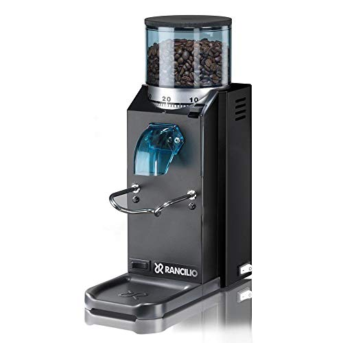 Rancilio Rocky Doserless Espresso Grinder, 20th Anniversary Limited Edition (Black - Doserless)