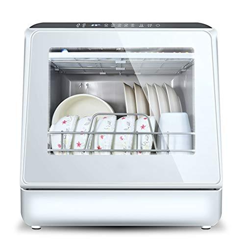 Handiy Lavavajillas de sobremesa, lavavajillas automático para encimera, Mini lavavajillas portátil, bajo Nivel de Ruido, Ventana Visual panorámica, fácil de Limpiar, 220 V 900 W
