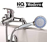 <span class='highlight'>Modern</span> Chrome Mixer Tap with Shower Deck Mounted B<span class='highlight'>at</span>hroom <span class='highlight'>Single</span> <span class='highlight'>Lever</span> B<span class='highlight'>at</span>h Shower Mixer Kit Tap Including Handset Wall Bracket