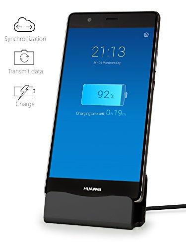 MyGadget Dockingstation Ladestation [USB C] für Android Smartphones - Halterung Dock für z.B. Samsung Galaxy S10 S9 S8, Note 9 8, Huawei P20 Pro - Schwarz - 4
