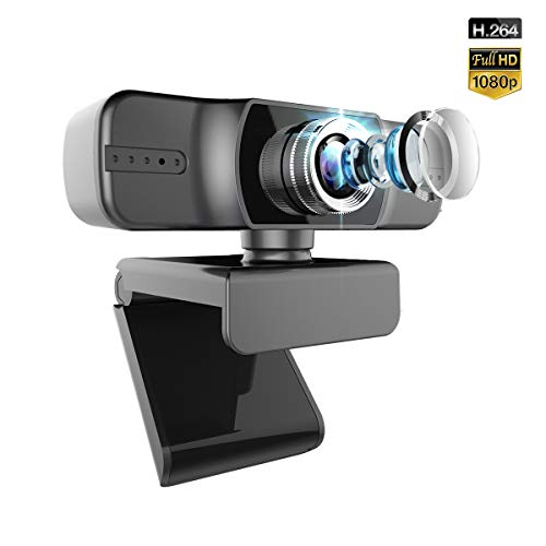 Webcam with Microphone,FUVISION Manual Focus Web Cameras for Computers,HD Webcam Streaming Flexible Clip Web Cam for Zoom Meeting YouTube Skype FaceTime Hangouts,PC/Mac/Laptop/Desktop