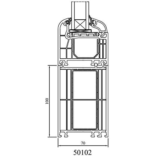 Drutex - Rahmenverbreiterung für Iglo 5, Iglo 5 Classic und Iglo Light Profile, Höhe in mm:100 mm, Länge:bis 1000mm