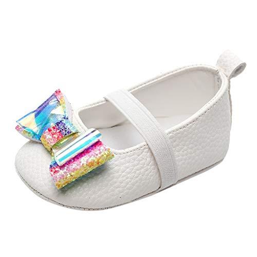 Luckycat Zapatos Bebe Niña Zapatillas para Bebes Blancos Zapatos Bebe Bautizo Primeros Pasos...