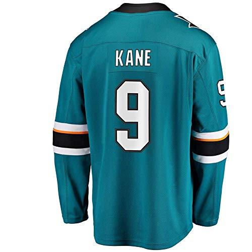 HEMWY Herren/Damen/Jugend_Evander_Kane_#9_Blaugrün_Sportbekleidung_Eishockey_Trainingsanzüge_Jersey S-XXXL