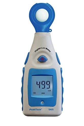 Peak Tech Digital Luxómetro, cuchillo de luz, iluminación Medidor Medidor, brillo Cuchillo, con rango de medición de 0de 200000Lux, 1pieza, P 5165