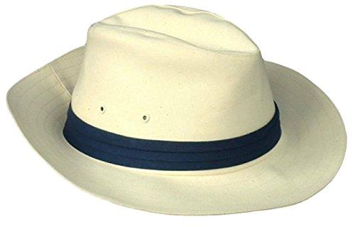 Thorness Chapeau Panama Classique Traditionnel - Bande Bleue - Taille 58 cm