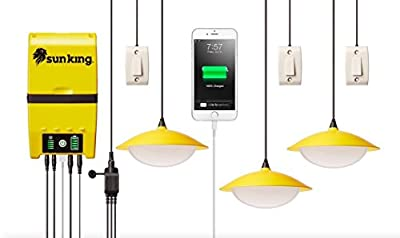 Greenlight Planet Home 120 Solar Lighting System Plus USB Charger